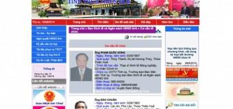 Giải pháp website đại biểu quốc hội