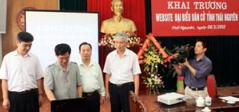 Khai trương website đại biểu dân cử tỉnh Thái Nguyên