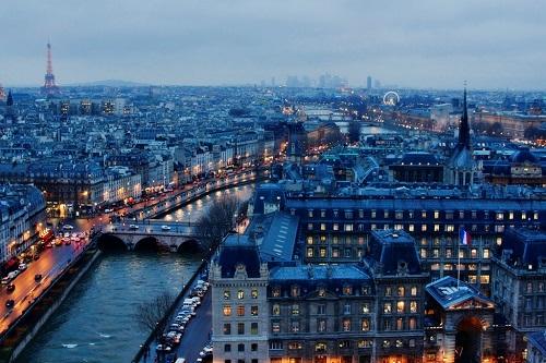 Paris khi màn đêm buông xuống