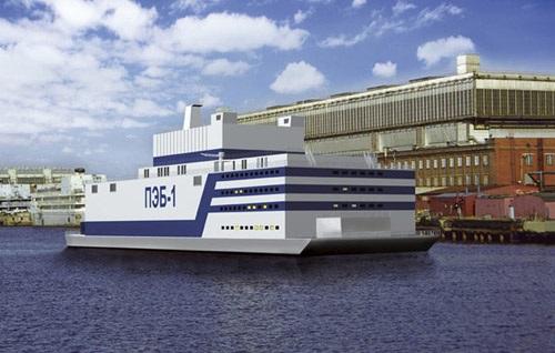 Mô hình trạm điện hạt nhân nổi trên biển của Trung Quốc