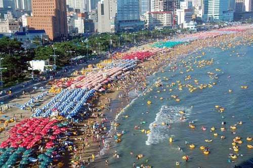 Tắm biển mùa hè Hàn Quốc