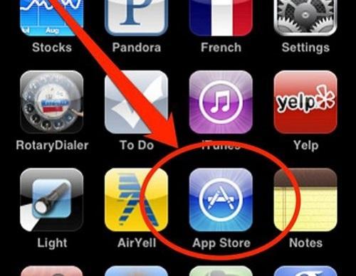 Nhấp vào biểu tượng AppStore
