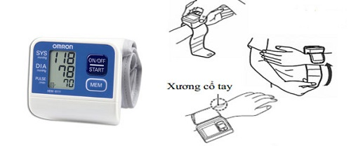Lựa chọn máy đo huyết áp có vòng cổ tay phù hợp
