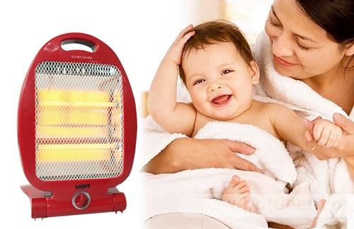 Lưu ý khi sử dụng cho bé máy lạnh vào mùa đông