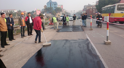 Quy trình bảo vệ mặt đường khi thi công