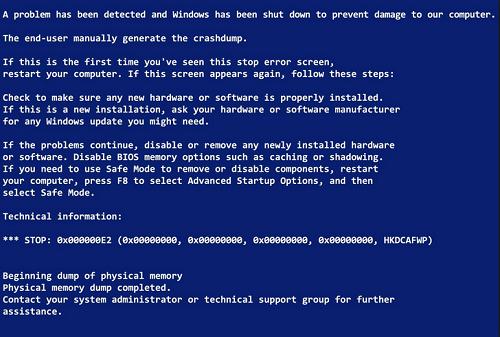 Nguyên nhân xuất hiện màn hình xanh trên laptop, PC