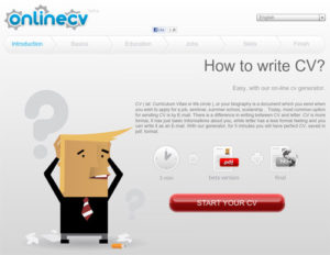 Phần mềm Online CV Generator