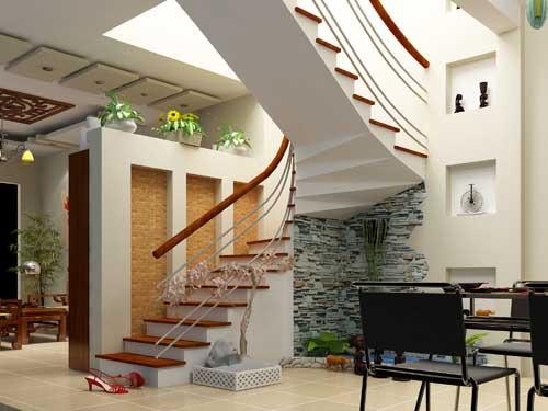 Mẫu cầu thang cho nhà diện tích hẹp 1