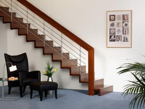 Mẫu cầu thang cho nhà diện tích hẹp 3