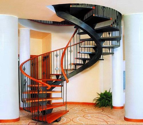 Mẫu cầu thang sắt xoắn ốc đẹp cho nhà nhỏ 1