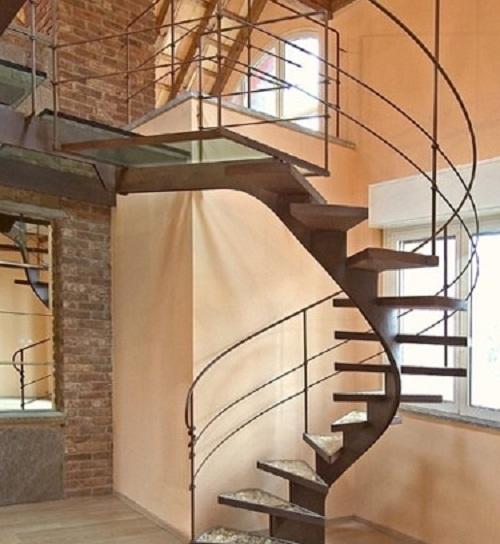 Mẫu cầu thang sắt xoắn ốc đẹp cho nhà nhỏ 2