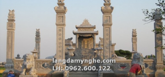 Mẫu lăng mộ đá đẹp chế tác từ Ninh Bình