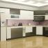 Mẫu tủ bếp acrylic chữ L đẹp màu trắng đen không chỉ mang đến một không gian hiện đại, sang trọng mà còn có tác dụng vô cùng tích cực về mặt thị giác.