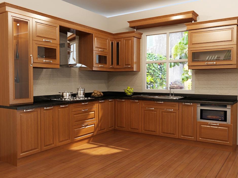 đặc điểm tủ bếp gỗ sồi Mỹ