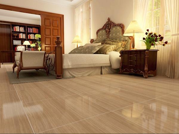 Gạch bông vân gỗ được dùng rất nhiều trong phòng ngủ
