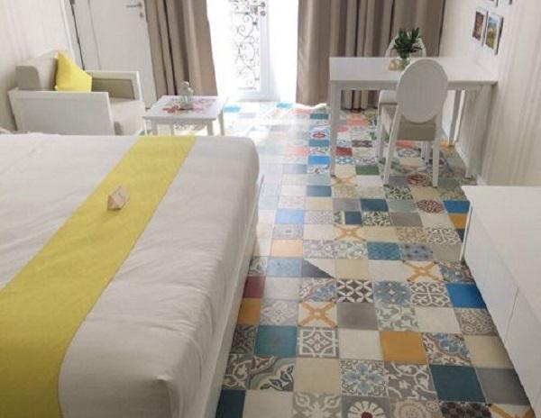 Gạch bông dùng trong phòng ngủ có thiết kế đặc biệt dành cho người cá tính