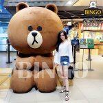 Gấu bông khổng lồ trong marketing