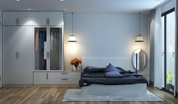 giường ngủ gỗ màu trắng đẹp nhất hiện nay