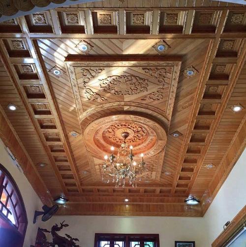 Lựa chọn trần gỗ tự nhiên đẹp cho căn phòng ấm áp, tiện nghi