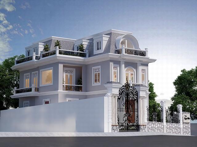 Thiết kế biệt thự 2 tầng kiểu cổ điển