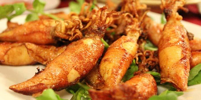 Mực chiên món ăn ngon nhất vùng biển Hải Hóa