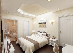 Với tiêu chí lấy các hoạ tiết làm điểm nhấn, phòng ngủ nhìn có vẻ đơn giản nhưng không hề đơn điệu.
