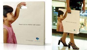 Chiếc túi giấy có thiết kế hướng đến trẻ em