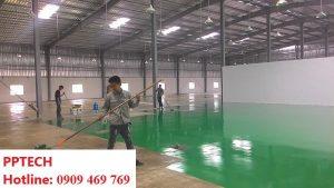 Sơn epoxy thi công sơn nền nhà xưởng