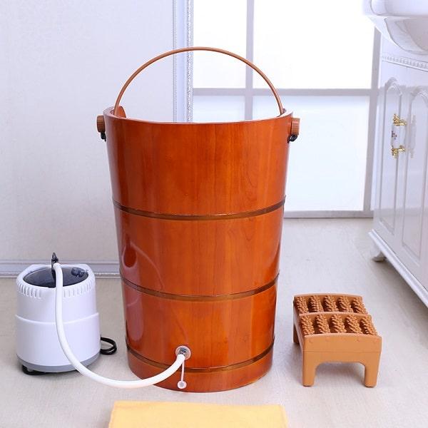 thùng gỗ xông hơi tại nhà