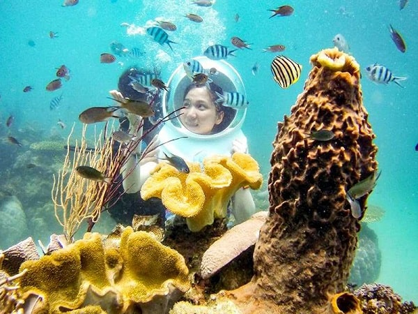 Không biết bơi vẫn có thể tham gia đi bộ dưới biển Nha Trang