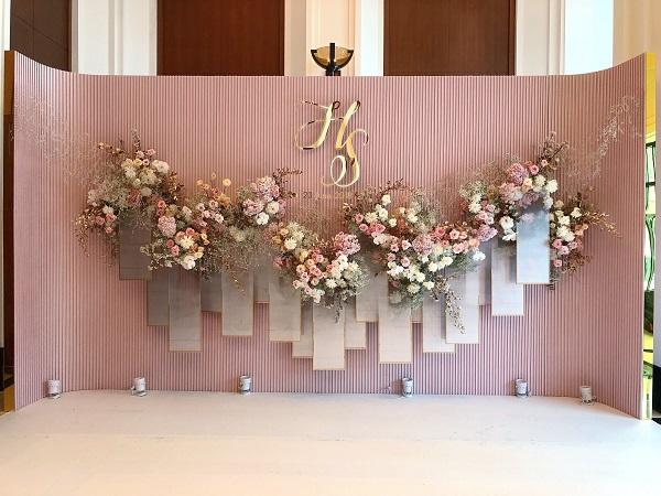 trang trí backdrop wedding