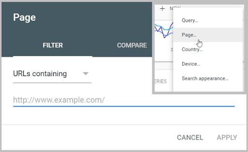 Tìm những từ đang xếp hạng trên page
