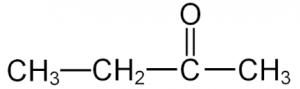 Cấu trúc phân tử của methyl ethyl ketone