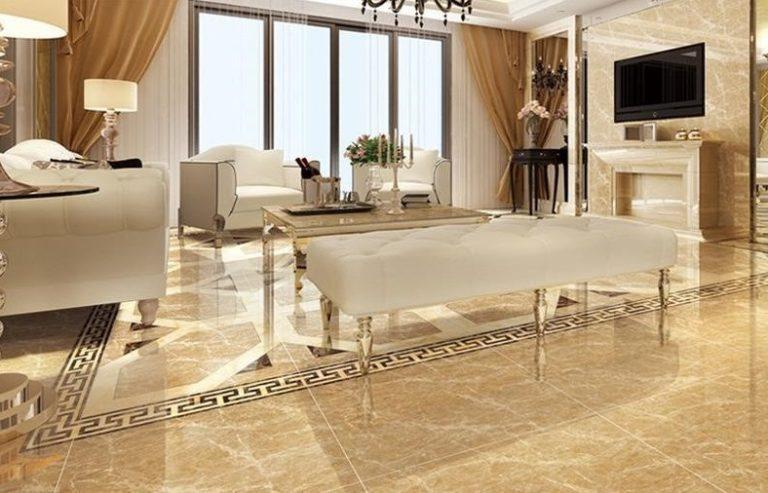 Đá marble nâu phòng khách