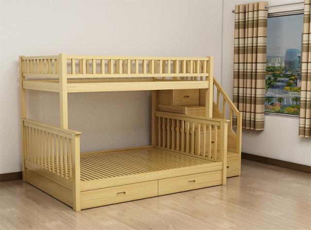 Giường tầng gỗ sồi cao cấp