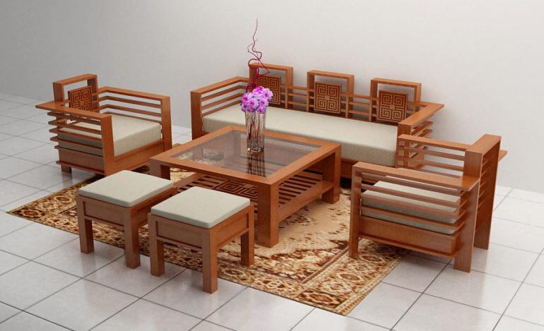 Cách đặt bộ bàn ghế phòng khách nhỏ gọn phù hợp với phong thủy