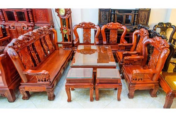 Bộ bàn ghế tay 10 gỗ gụ có gì đặc biệt?