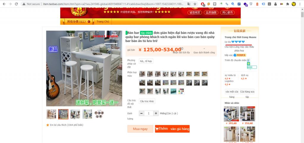 Chia sẻ cách đặt hang Taobao - 3