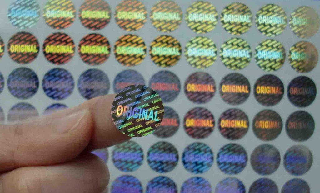 Các loại tem chống giả 7 màu được sử dụng phổ biến hiện nay