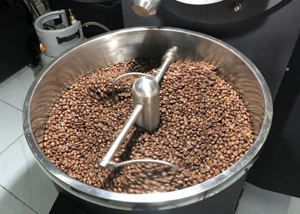 Máy rang cà phê mini