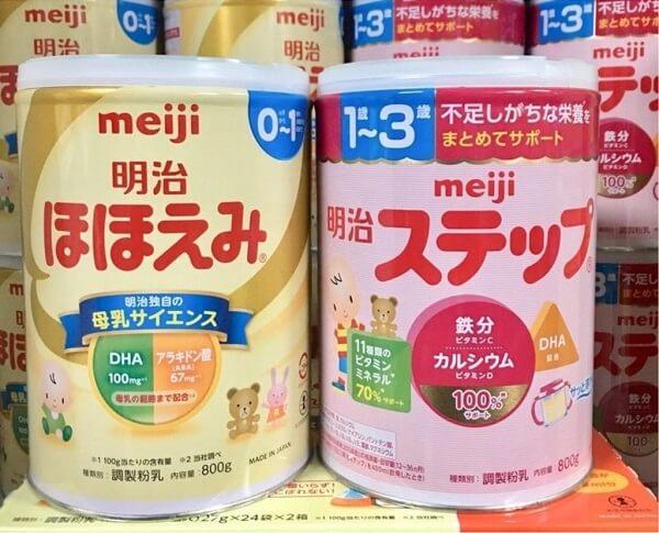 Sữa Meiji số 0 và số 9