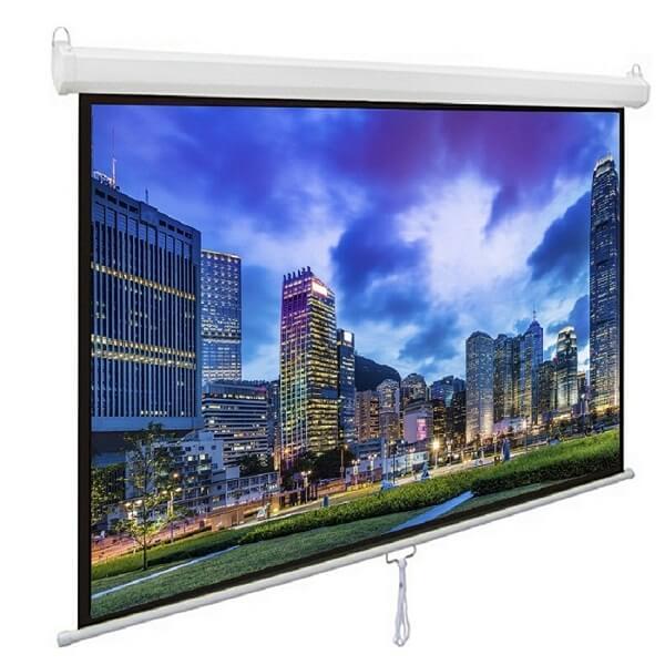 Review màn chiếu treo tường 135 inch giá rẻ chất lượng