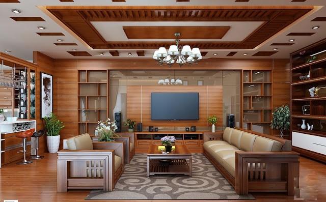 Tổng hợp cách bố trí bàn ghế gỗ trong phòng khách hợp lý nhất