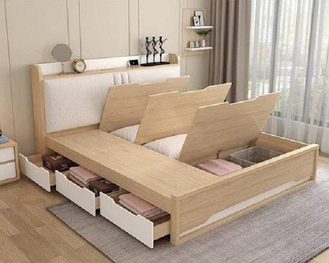 Giường ngủ làm cho không gian thêm sang trọng và hiện đại