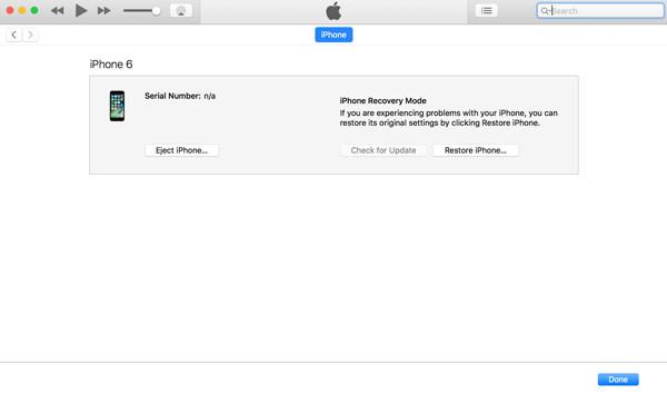 Khắc phục iPad sạc không lên nguồn bằng phần mềm iTunes