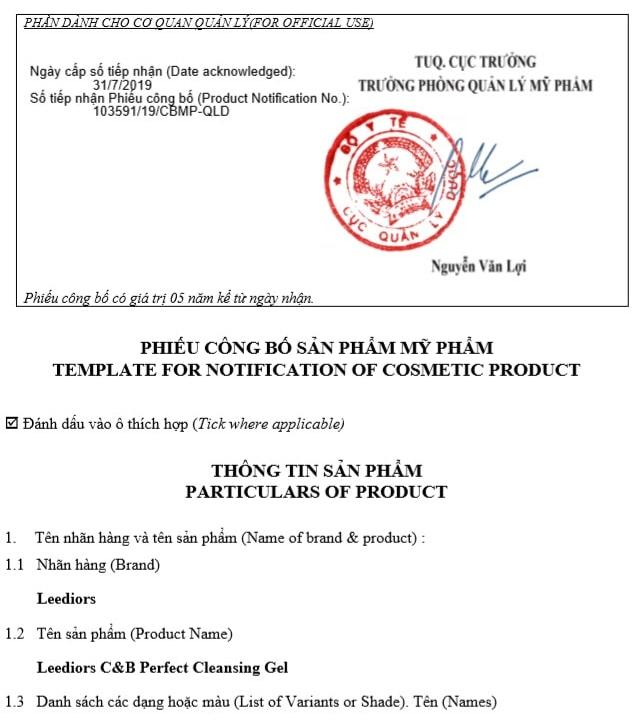 Thủ tục công bố mỹ phẩm nhập khẩu và hồ sơ công bố mỹ phẩm
