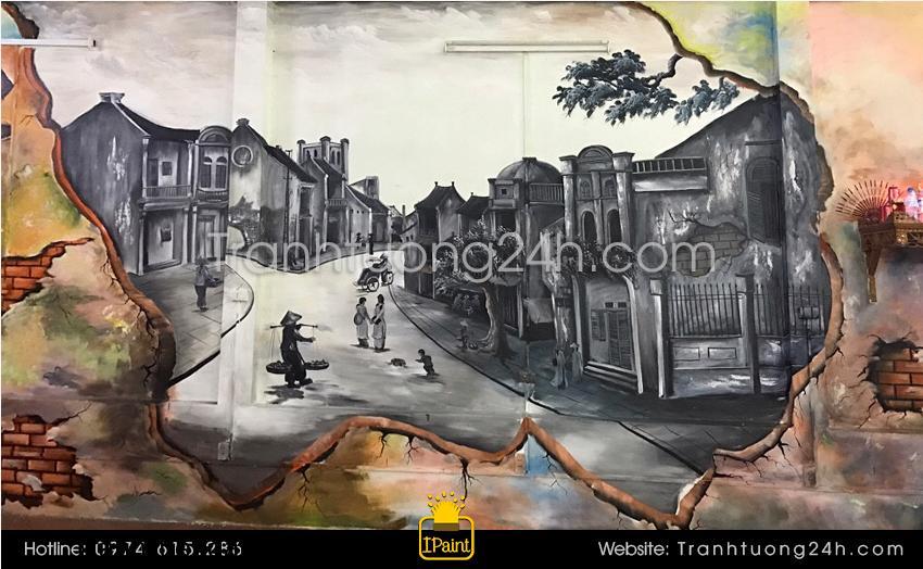 Kỹ thuật vẽ trang tường 3d đẹp và kinh nghiệm vẽ tranh