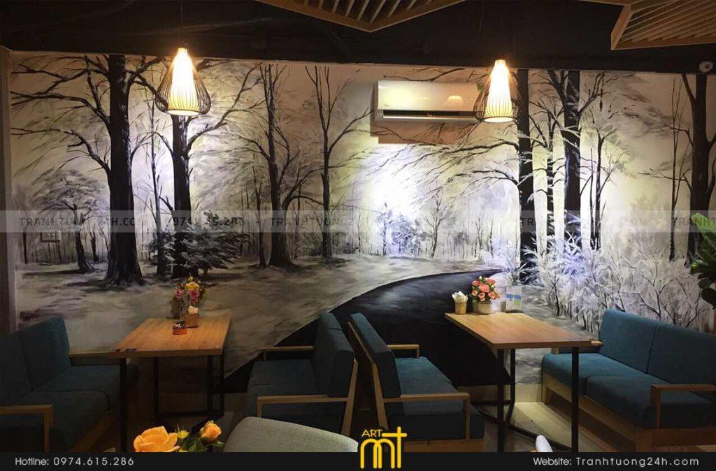 Vì sao bạn nên vẽ tranh tường quán cafe giá rẻ ?
