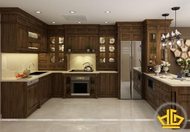 Tổng hợp một số mẫu tủ bếp Hoàng Gia đẹp chất lượng