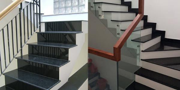 Tổng hợp các mẫu đá hoa cương đen ốp cầu thang đẹp chất lượng